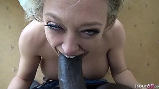 MILF Cougar get Hotel Creampie Interracial Monster Cock Sex