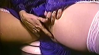 Cute and lean white chick masturbating and feeding on a dick