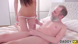 Daddy4k. passionate old and young sex scene of daddy and slutty girl