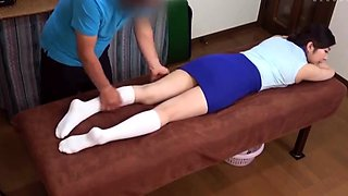 Attractive Japanese teens getting massaged and fucked good