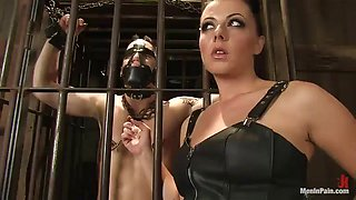 bondage scene with the hot mistress penny