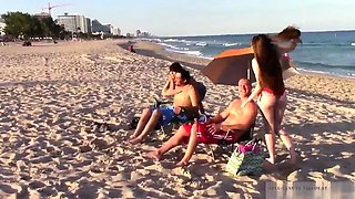 Family bored game first time Beach Bait And Switch