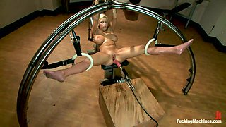 Busty Lylith Lavey Getting Fucked by Machine in Bondage Video
