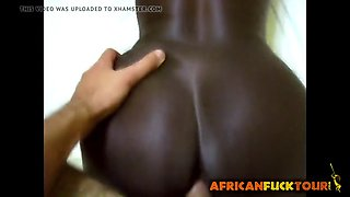 African Woman Can't Get Enough of His Ivory Cock