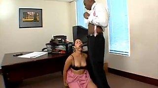 Rosario stone hot latina maid fuck with her black boss