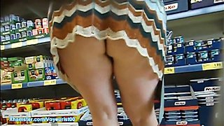 Wife's ass shopping in Lidl