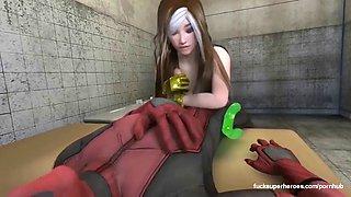 Deadpool Rogue 3D animation