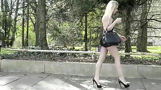 Angie lee street prostitute in lycra miniskirt high heels
