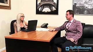 Stunning Wife Boss Fucked in the Office