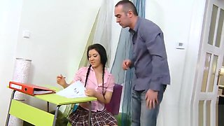 Lovesome schoolgirl was seduced and screwed by her senior instructor