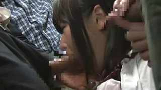 Hottest Japanese chick Miyu Nakatani, Mariya Noguchi, Rimu Kuzuki in Crazy Gangbang, Small Tits JAV scene