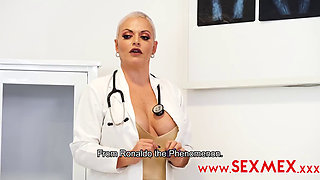 Busty Big Ass Latina Blonde MILF Dasha Forces Her Patient to Fuck Her Pussy
