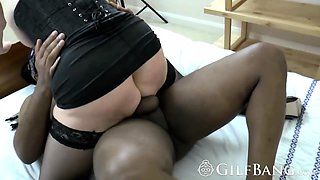 Brutal GILF craving a thick BBC with all of her holes