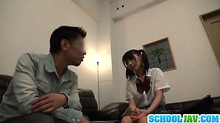 Naughty Schoolgirl Seduces An Older Man Into Fucking Her