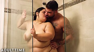 Adult time bbw karla lane steamy shower sex with lover