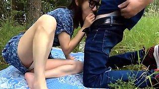 Innocent picnic turns into great fuck