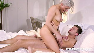 Awesome quite leggy auburn Czech MILF Brittany Bardot is ready for steamy fuck