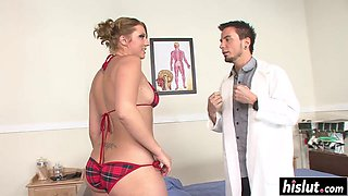 Horny doctor bangs a sweet patient