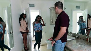 BadMILFS - Horny Ebony Mom Fucks Daughters BF