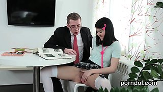 Erotic schoolgirl is seduced and fucked by older lecturer03k