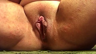 Pussy Pounding while Peeing Up Close Young College Student Girl Step Sister