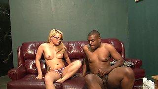 Casey Cumz rides a big black cock and enjoys licking balls