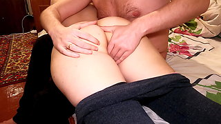 Stepdaddy Spanked me on the Ass! Put his Fingers in my Pussy