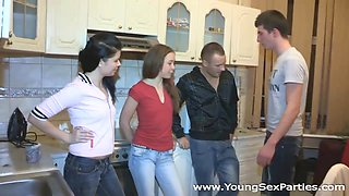 Julia, Yana in Four-way with ex and his new gf