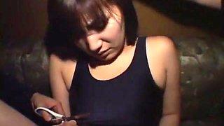 Exotic Japanese chick Aina Igawa in Incredible Masturbation/Onanii, Threesomes JAV clip