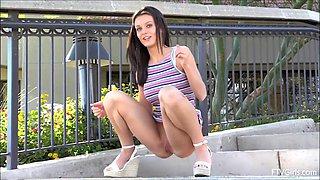 Lana Rhoades Has To Go Pee Pee