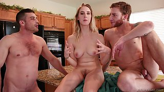Kinky Cadence Lux and her hot friends like to play with fat cocks