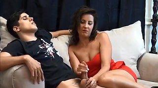Mom massaging Fiutek son