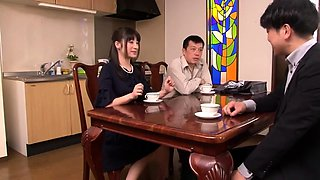 Sultry Japanese wives introduced to bondage and submission