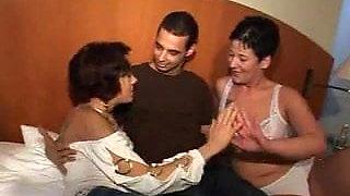 Husband And Wife Enjoy A Porn Threesome