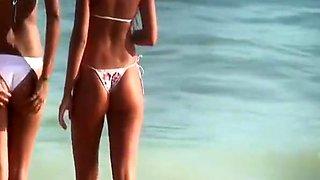 Long hair blonde teen in sexy bikini