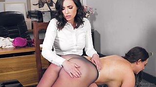 Sexy ass secretary turns her boss into her sex slave