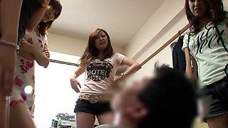 Riona Suzune, Anri Hoshizaki, Rio Hamazaki, Satomi Suzuki in The Charge Home Visit aka Huge Breast Sluts Come to My House part 1.1