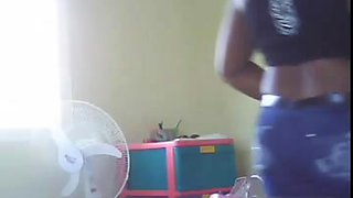 My Black Ebony Dominican Maid Hidden cam