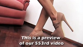 Perfect ASS Busty TEEN High Heels G String Big Nipples!