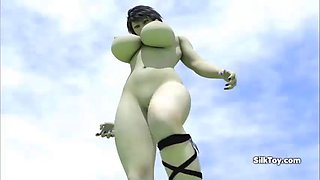 3d animated giant busty bitch grows while fuck
