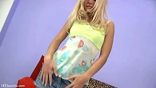 Blonde's Very Cute Cotton Panties and Cameltoe
