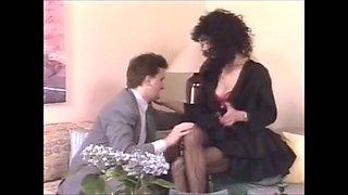 Designer stockings make him horny for his german secratary
