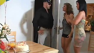 horny ladies get nailed by a guy in a foursome