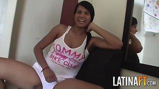 shy latina girl got fucked hard on bed