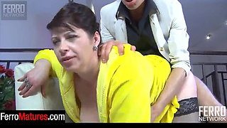 Horny Student Licked Mature Tits Before Doggystyle
