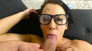 Busty milf bends ass for her step son