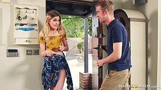 blonde teen is in awe of big dick