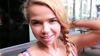 Teen swallows cum pov