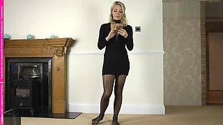 Gabrielle in pantyhose