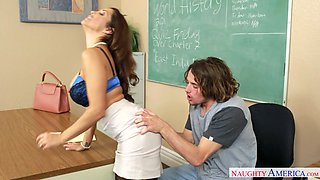 Nasty mommy Francesca Le lures hot stud Tyler Nixon  in the classroom